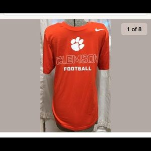 Clemson Nike NCAA Dri Fit Shirt Short Sleeve Tee